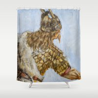 viking Shower Curtains featuring Viking by VAWART