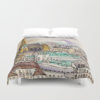 vienna Duvet Covers featuring Vienna by Eurekawanders