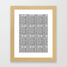 Collecting bugs Framed Art Print