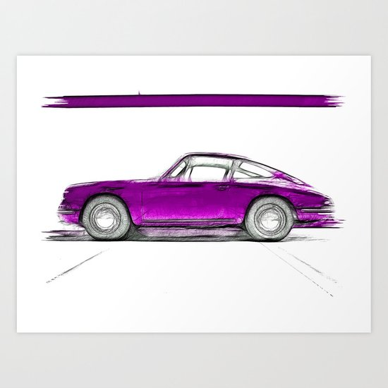 Porsche 911 / III Art Print