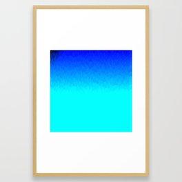 Electric Blue Ombre flames / Light Blue to Dark Blue Framed Art Print