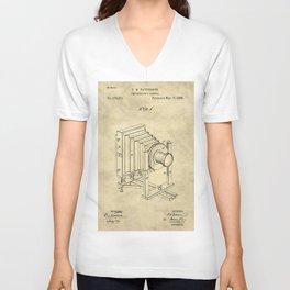 Industrial Farmhouse Blueprint Camera Unisex V-Neck