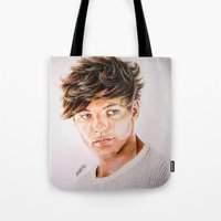 louis Tote Bags featuring Louis  by Drawpassionn