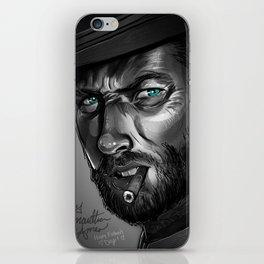 Clint Eastwood Fan Art iPhone Skin