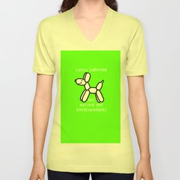 Balloon Dogs: Latex is Natural! Unisex V-Neck