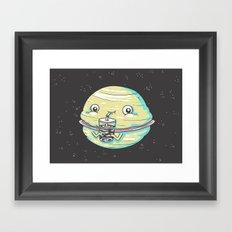 Faturn Framed Art Print