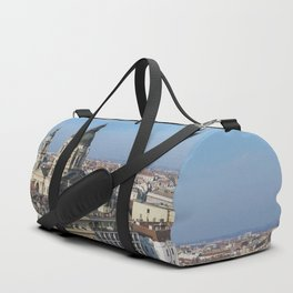 Panoramic view of Budapest and St. Stephen Basilica in Hungary Duffle Bag
