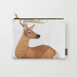 Low Poly White-tailed Deer Carry-All Pouch