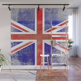 Grunge Union Jack Flag Wall Mural