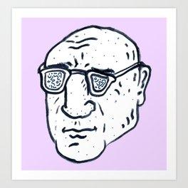 Foucault Art Print