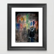 Fuck Homophobia Framed Art Print