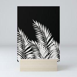 Palm Leaves White Mini Art Print