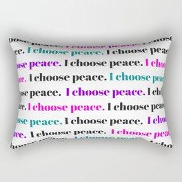 I choose peace Rectangular Pillow