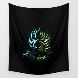 Blue vs Green Wall Tapestry