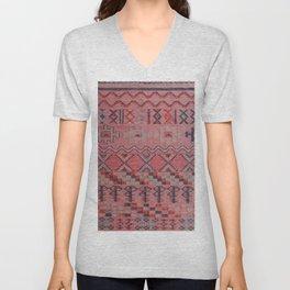 V21 New Traditional Moroccan Design Carpet Mock up. Unisex V-Neck