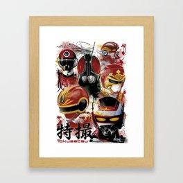 Tokusatsu Assemble's COLOR Framed Art Print