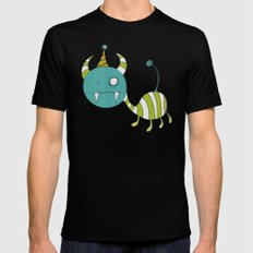 Party-Animal in Bubbles II MEDIUM Mens Fitted Tee Black