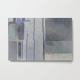Blues and Grays Metal Print