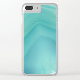 Geode Crystal Turquoise Clear iPhone Case