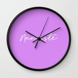 Namaste - Purple and white Wall Clock