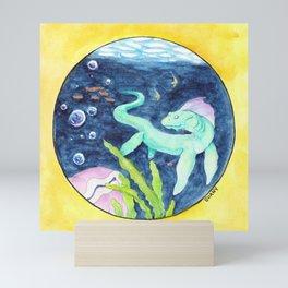 Life Under the Bubbles Mini Art Print