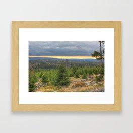 Harz National Park Sunset Framed Art Print
