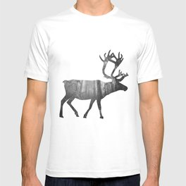 Moose Silhouette | Forest Photography T-shirt