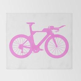 Bike Pink Throw Blanket