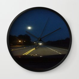 Moonlight Drive Wall Clock