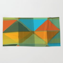 Harlequin 1 Beach Towel