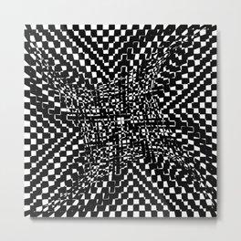 black white Metal Print