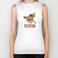 okay Biker Tanks featuring OKAY by Thomcat23