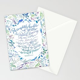 Be Humble & Gentle - Ephesians 4:2-3 Stationery Cards
