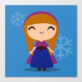 Frozen Cute Princess Anna Canvas Print