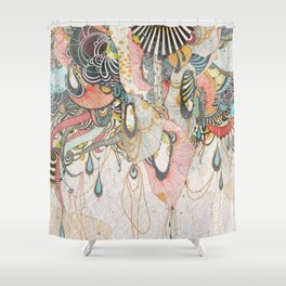 Mind-drawing Doodling Art Shower Curtain