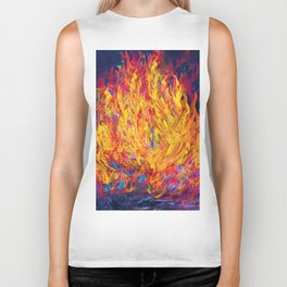 Fire and Passion - Here's to New Beginnings Biker Tank