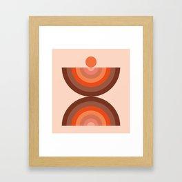 Abstraction_SUN_Rainbow_Minimalism_002 Framed Art Print
