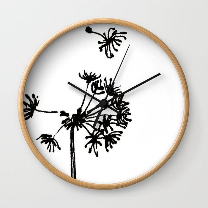 Dandelion Drawing Wall Clock