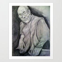 Dalai Lama Portrait - Peace and Kindness Art Print