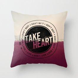 Take Heart Throw Pillow