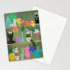 Flowers and Goddesses Shelf Stationery Cards