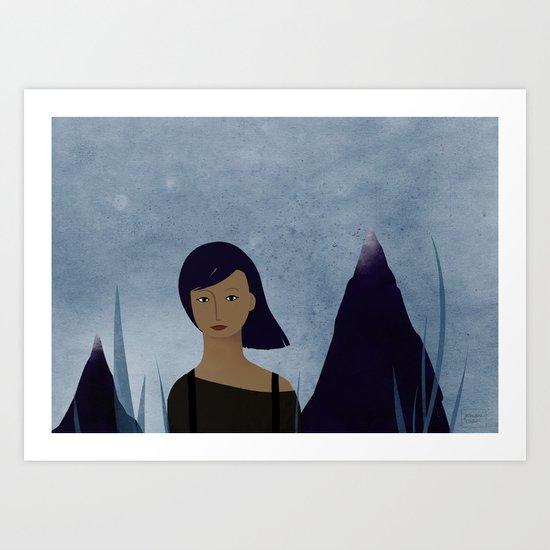 I am a mountain Art Print