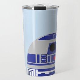 Beep Boop on Light Blue Travel Mug