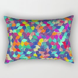 Colorful Geometric Pattern #10 Rectangular Pillow