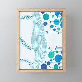 Etang zen - Zen water Framed Mini Art Print