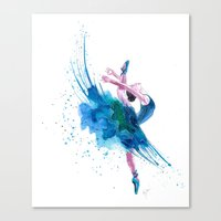 ballet Canvas Prints featuring Ballet by Zdenka Koskova