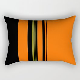 Orange Green Black Rectangular Pillow