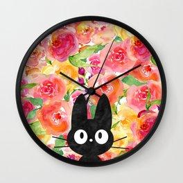 Jiji in Bloom Wall Clock