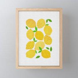 Lemon Crowd Framed Mini Art Print