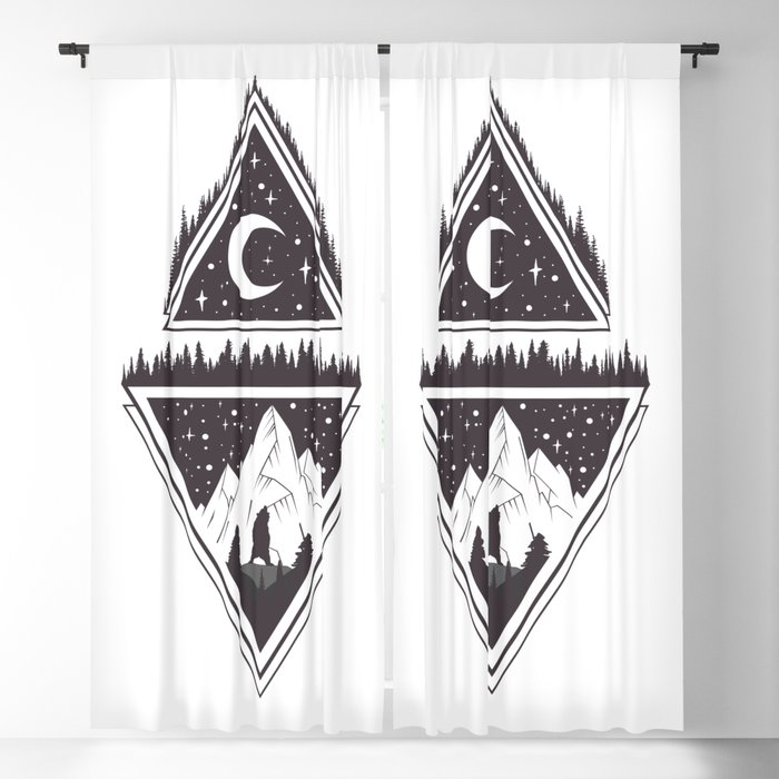 Mountains Blackout Curtain